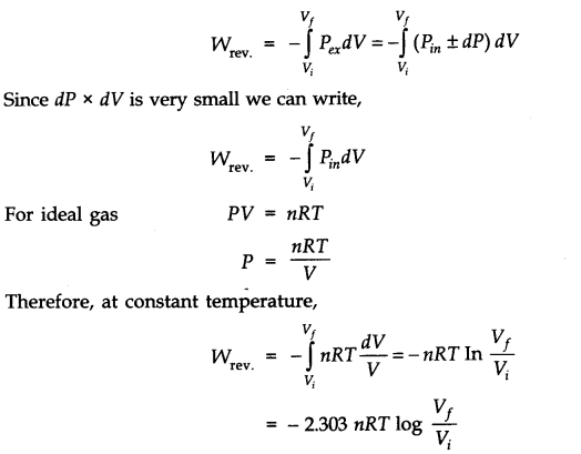 Isothermal and Reversible Expansion of Ideal Gas