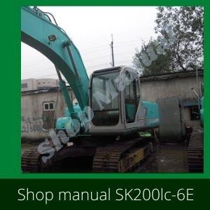 SK200lc-6E, Sk210LC-6E SHOP MANUAL