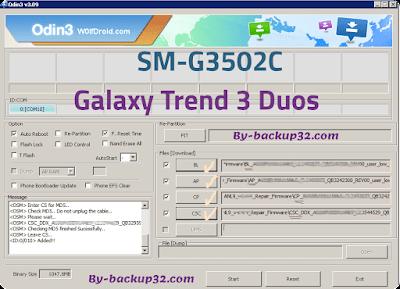 سوفت وير هاتف Galaxy Trend 3 Duos موديل SM-G3502C روم الاصلاح 4 ملفات تحميل مباشر