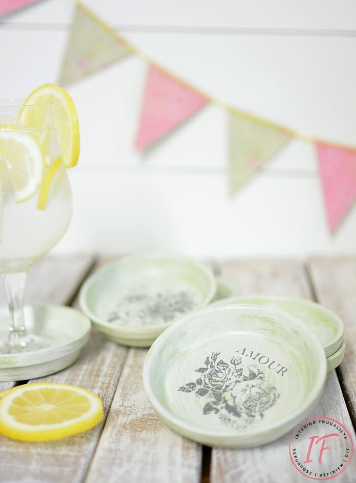 DIY Vintage French Terracotta Coasters