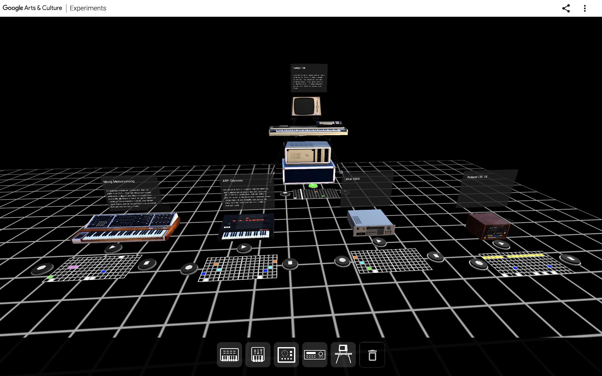 Ein Screenshot von AR Synth