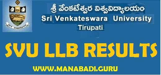 AP Results, SVU Results, Sri Venkateshwara University, LLB Results,