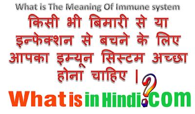 Immune system का मतलब क्या होता है