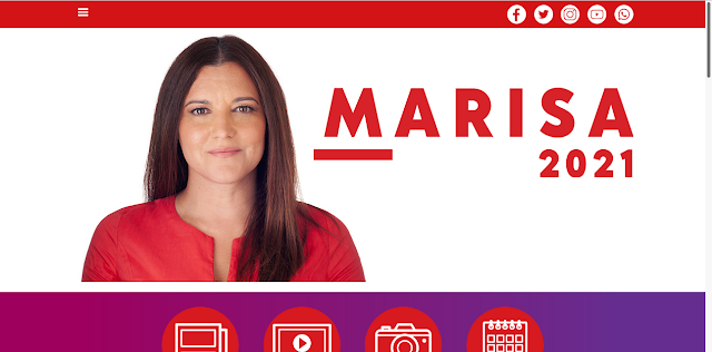 PÁGINA NA INTERNET DA CANDIDATA MARISA MATIAS