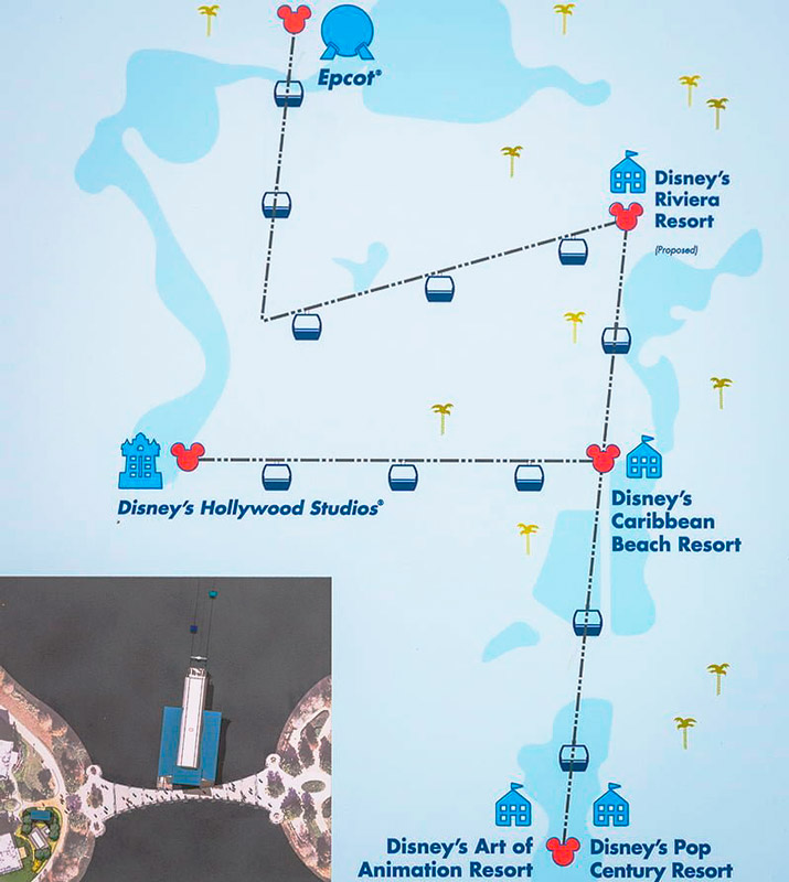Mapa do  Disney Skyliner Transportation