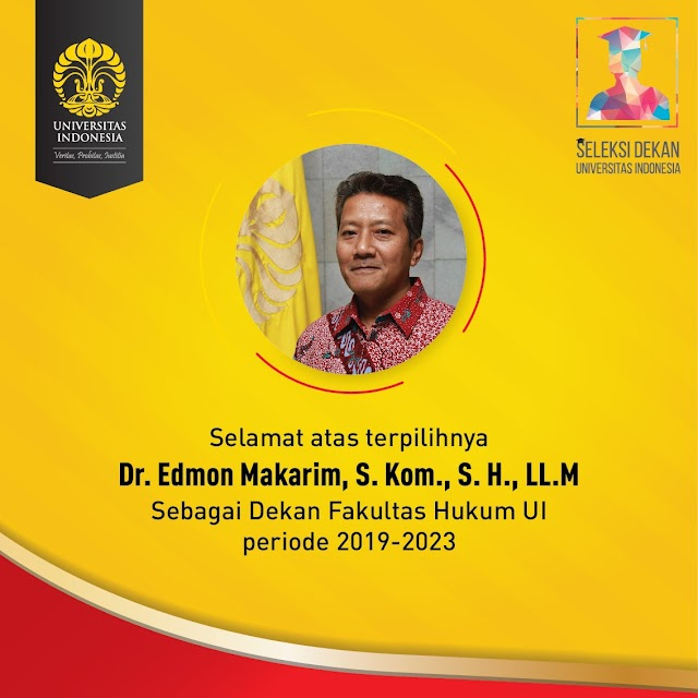 Edmon Makarim Jabat Dekan FHUI   Periode 2019 – 2023