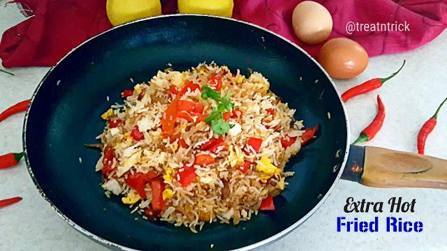 Extra Hot Fried Rice Recipe @ treatntrick.blogspot.com