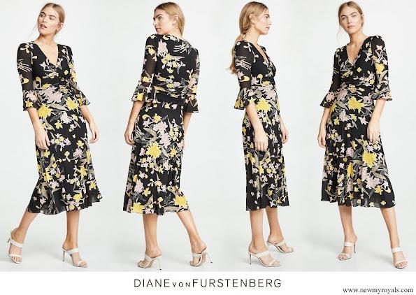 Princess Marie wore Diane von Furstenberg Silas Dress