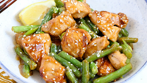 Honey Lemon Chicken and Green Beans Stir Fry