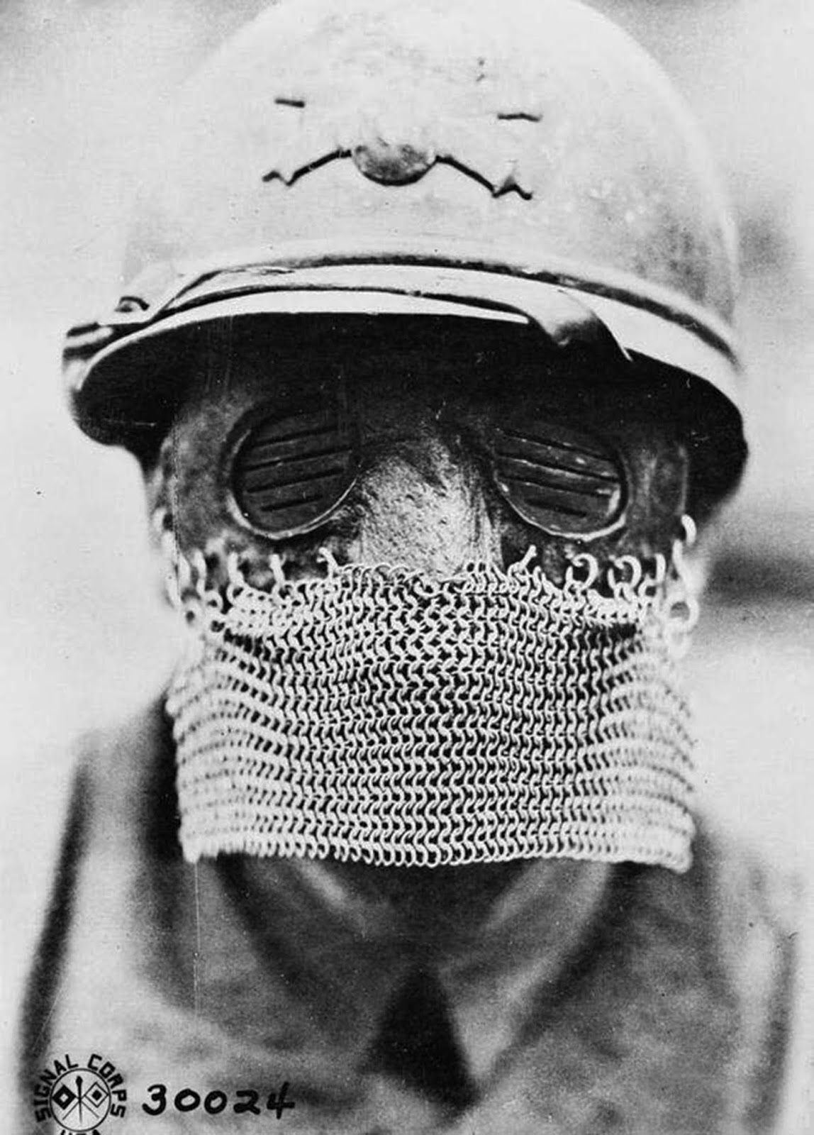 Splatter mask for tank crews, October 12, 1918.