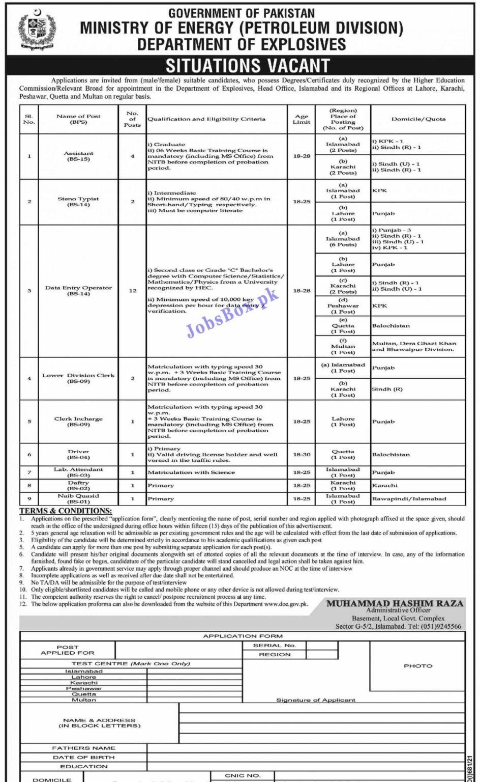 www.doe.gov.pk Jobs 2021 - Ministry of Energy Jobs 2021 in Pakistan