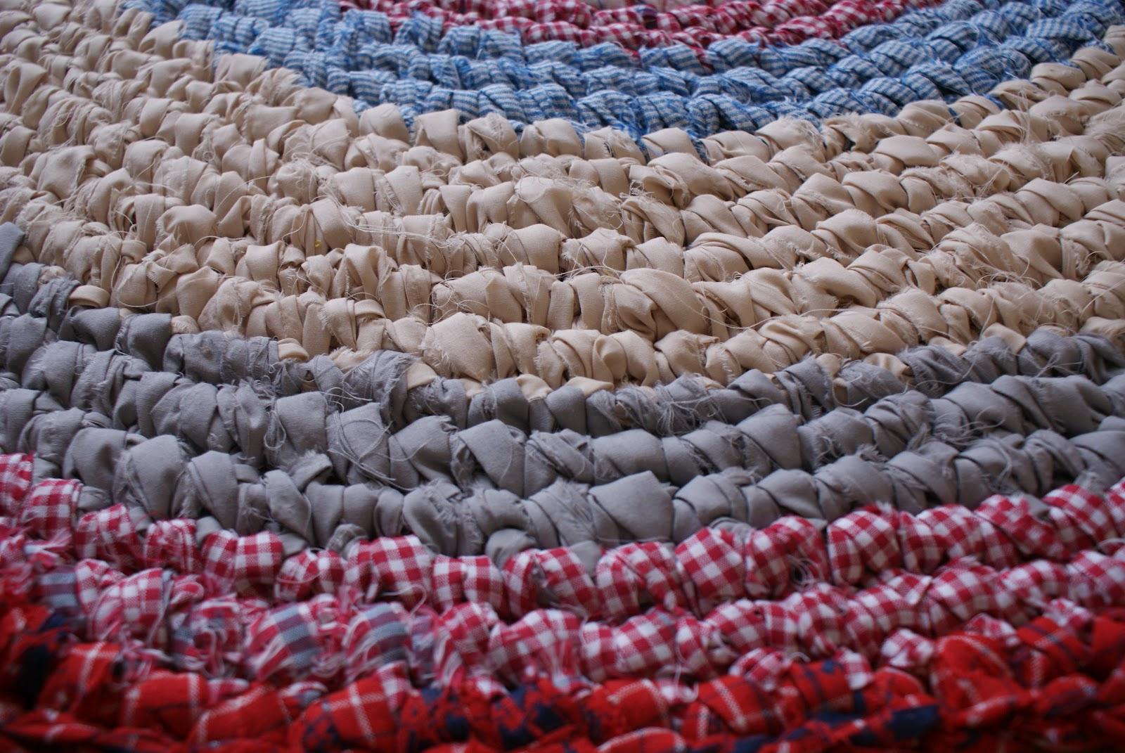 how to make rag rugs crocheted rag rug millie makes fab. Black Bedroom Furniture Sets. Home Design Ideas