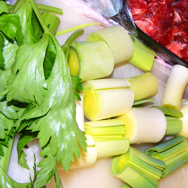 Ingredients for pot au feu. Photo by Loire Valley Time Travel.