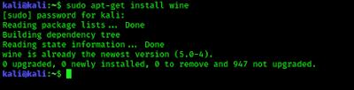 Wine instaling in Kali Linux