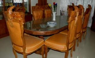 meja makan kursi burung garuda