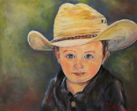 """Max"", a child's portrait in oils SOLD"