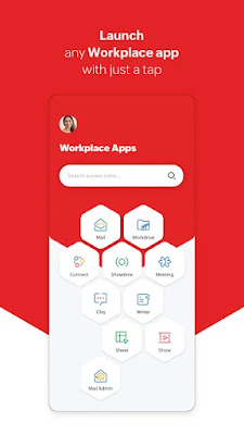 Screenshot Zoho Workplace - Apcoid