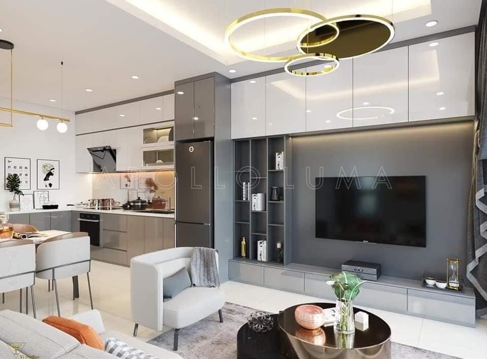 Mẫu thiết kế nội thất Vinhomes Smart City cho căn hộ 2PN+1 (65m2)