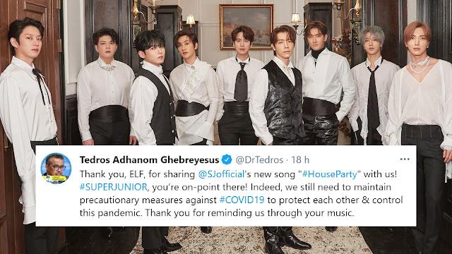 Super Junior é elogiado pelo diretor da OMS