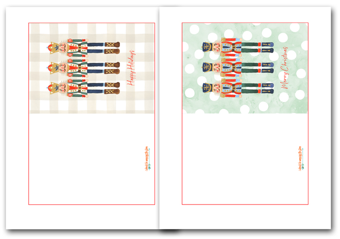Printable Nutcracker Cards