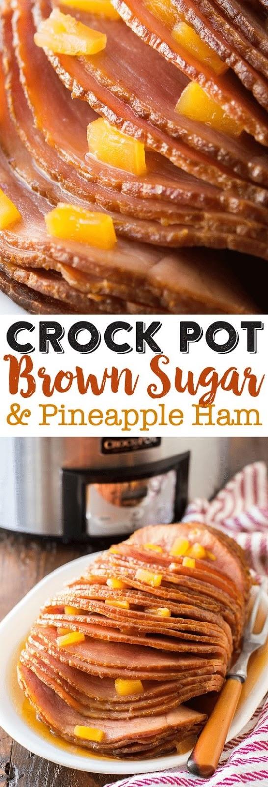 Crock Pot Brown Sugar Pineapple Ham Recipe