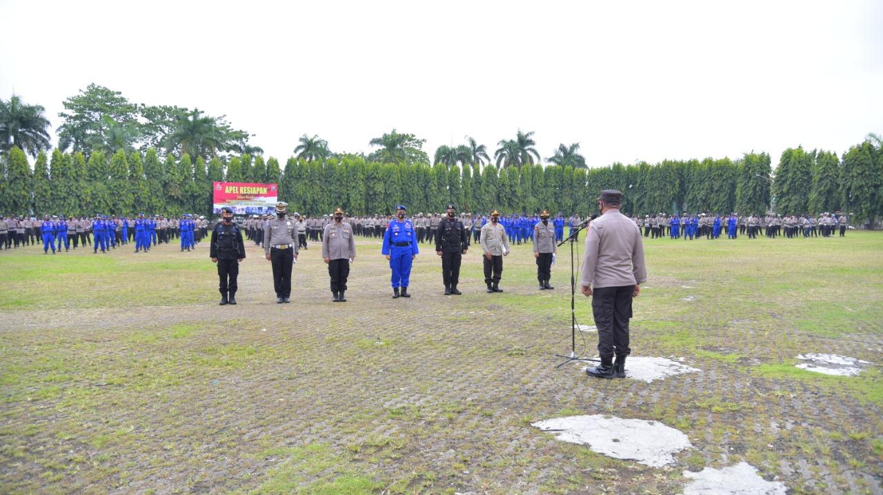 Polda lampung gelar Apel pasukan kesiapan Pam Pilkada 2020