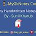 Maths Handwritten Notes PDF By - Sunil Kharub
