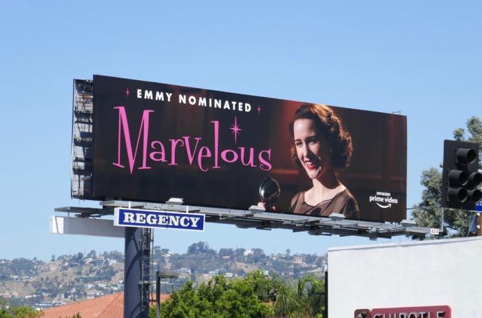 Mrs Maisel season 2 Emmy nominated billboard