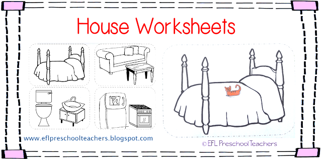 ESL/EFL Preschool Teachers: House Worksheets For The Preschool ELL