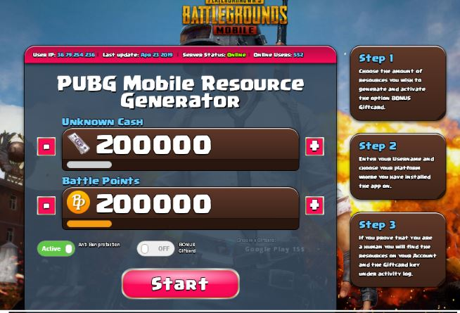Pubg Mobile UC Generator No Survey 2020