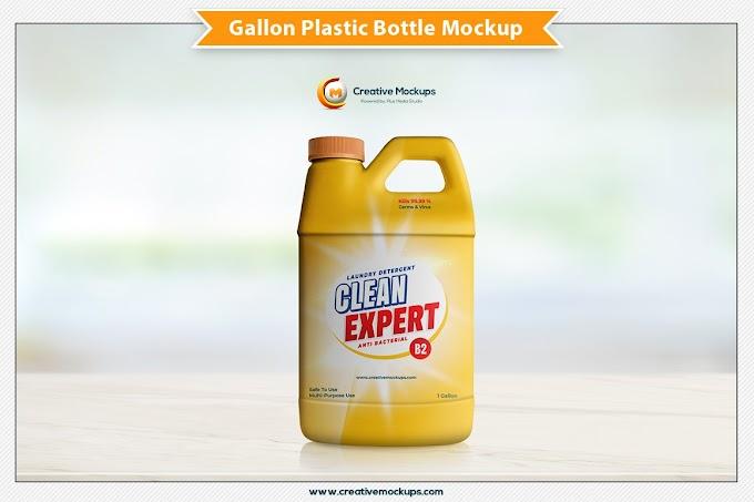 Gallon Plastic Bottle Mockup[Photoshop][PSD][5199527]