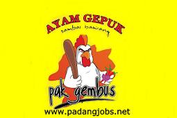 Lowongan Kerja Padang: Ayam Gepuk Cabang Indarung Januari 2018