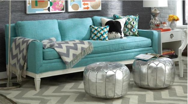Resultado de imagem para sofa turquesa