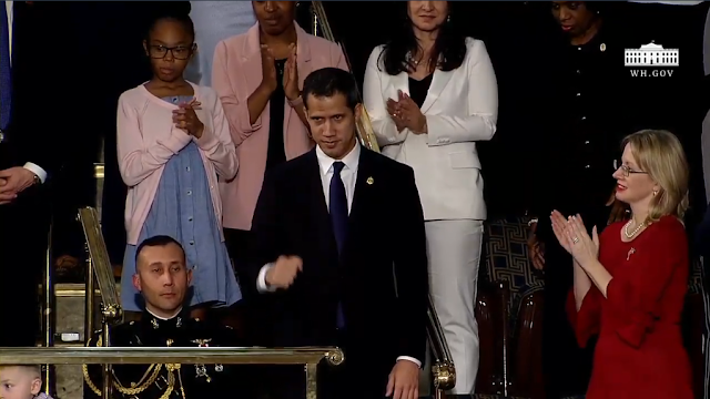 State of the Union 2020 Juan Guaidó Guaido President Trump guest audience