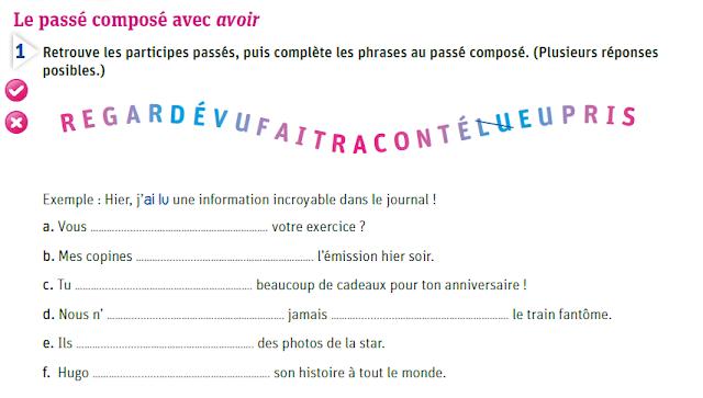 Passé composé - ćwiczenia z czasownikiem avoir 1 - Francuski przy kawie