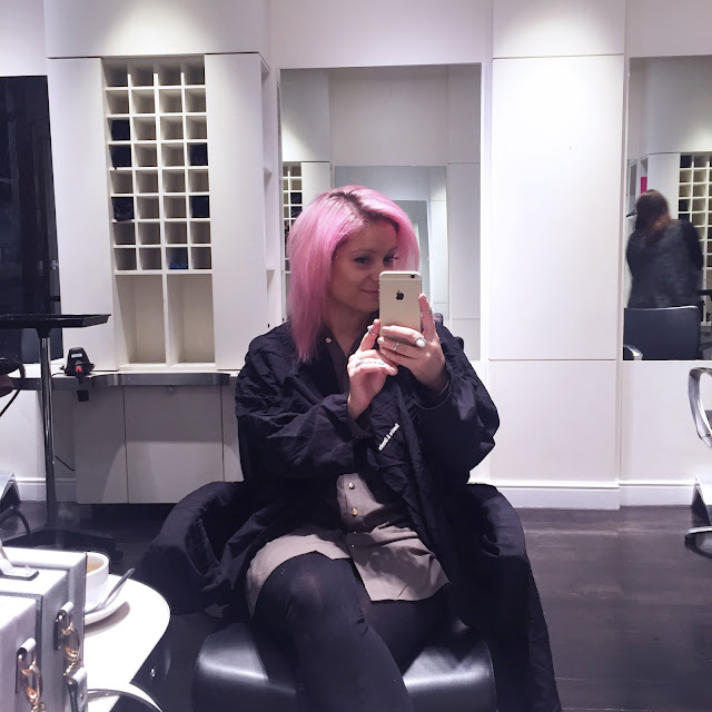 brooks and brooks pink hair done