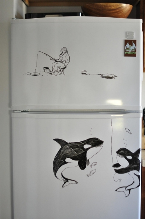 05-Ice-Fishing-Charlie-Layton-Freezer-Door-Drawings-and-Illustrations-www-designstack-co