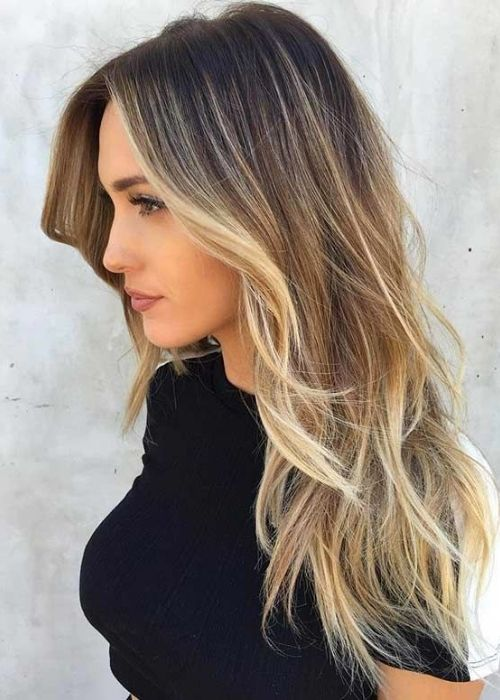 Flattering Hairstyles for Oval Face - Long Hair with layers