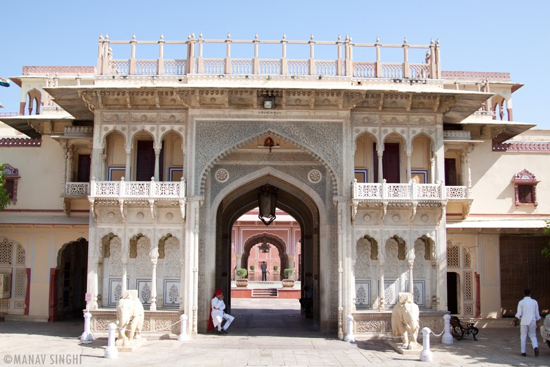 One of The Entry Gates To The City Palace, Jaipur.