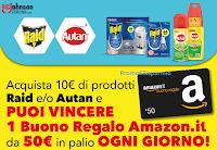 Logo ''Vinci un buono regalo Amazon con Raid e Autan'' del valore di 50 euro