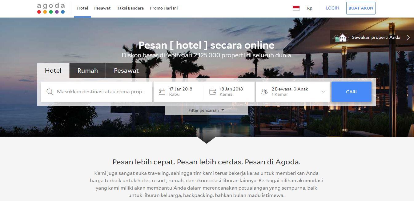 Agoda perusahaan Internet yang menyediakan layanan reservasi properti hotel  atau resor secara online yang difokuskan terutama untuk kawasan Asia  Pasifik 2a1b0773ca