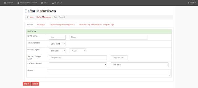 SIAKAD%2BSISWA - Source Code Aplikasi Sistem Informasi Akademik Berbasis Web