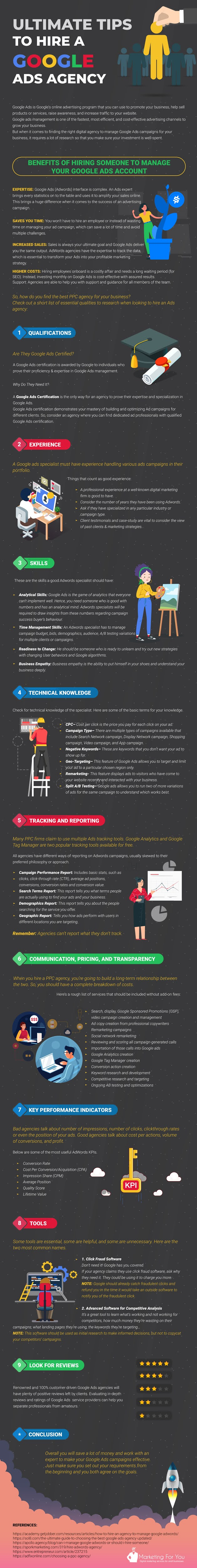 Ultimate Tips To Hire A Google Ads Agency #infographic