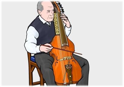 バリトン baryton (ビオラ ディ ボルドーネ viola di bardone)