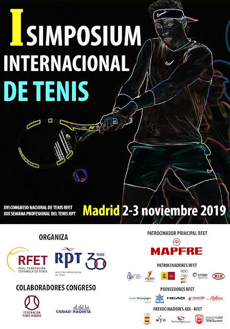 I Simposim Internacional de Tenis 2-3 Noviembre en Madrid organizado por la RFET y el RPT.