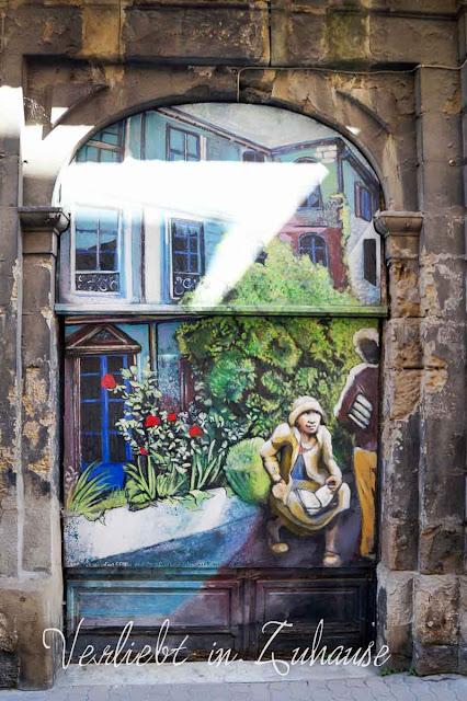 Haustür Dekoration Bagnol Frankreich