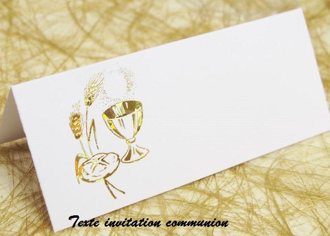 Sms Message Et Texte Dinvitation Texte Invitation Communion