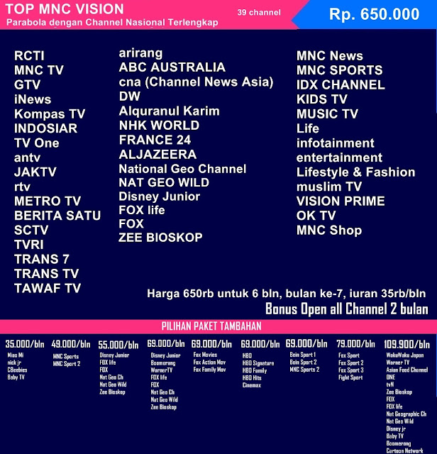 Top Vision Kapuas Pasang Indovision Berlangganan Transvision Harga Paket Wifi Murah Info internet First Media Indihome Gi Ooredoo XL Home MNC Play