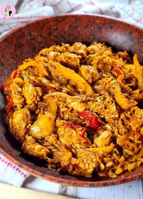 imple Chicken Tikka Rice Stir-fry dish that is Slimming World friendly and lower calorie.