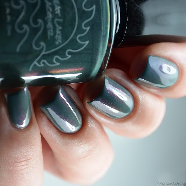 teal with shifting shimmer nail polish